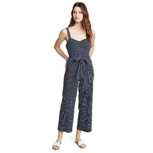 Paige Emma Striped Jumpsuit in Rich Navy Multi